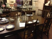 12 seater oak dining room table &10 Chairs
