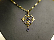 1910s 9ct Gold Lavaliere necklace