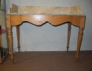 1930's Pine And Marble Topped Wash Stand