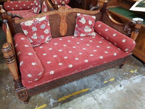 1940's Double cane Bergier sofas