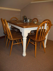 1960'S Ecrol breakfast table & 6 chairs