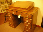 Victorian pedestal writing desk