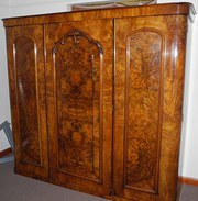 A Superb Walnut Wardrobe