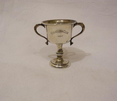 A  Solid Silver Sport Trophy Maskeliya 1927