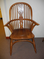 Antique Windsor Crinoline Arm Chair