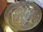 Art Deco French Glass Centrepiece Bowl Verlys