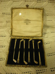 Birmingham silver 1923 Lobster picks golf clubs