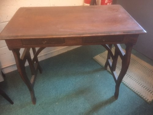 Army officer's oak campaign desk
