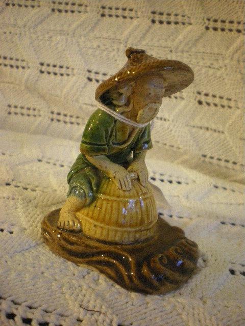 Chinese pottery mudman figure
