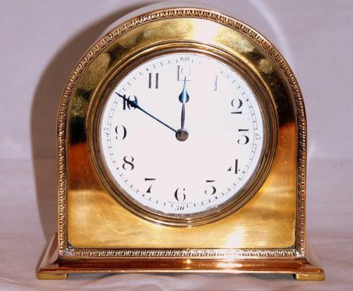 Beautiful brass clock circa 1910