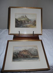 E.A Fraser pair of Watercolours Librnik Castle