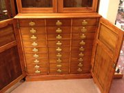 Early 1900 Golden Oak filing cabinet and bookcase