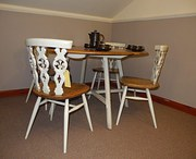 Ecrol shabby chic 1960 painted table & chairs