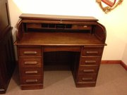 Edwardian oak roll top desk‏