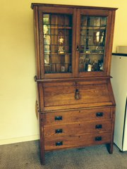 Fine quality arts and crafts bureau bookcase