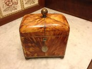 Georgian tortoiseshell tea caddy