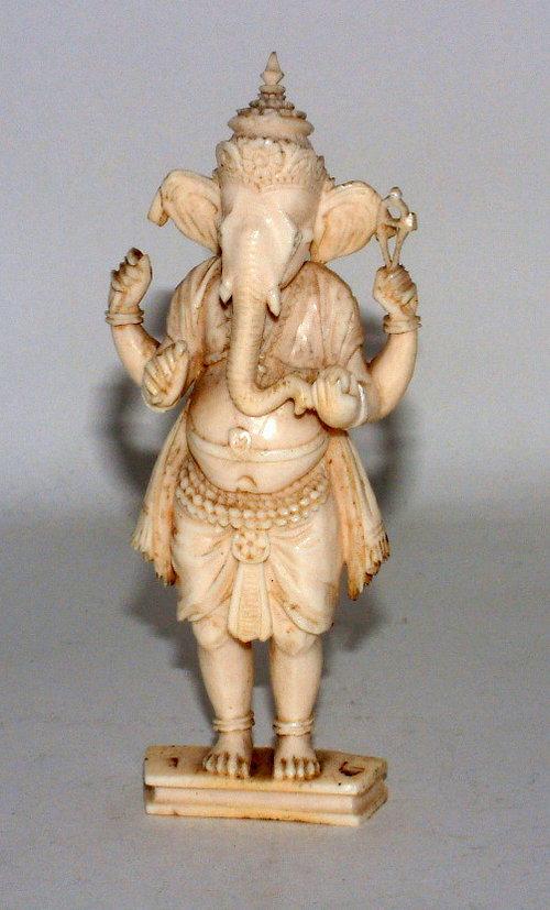Ivory Ganesh Figure