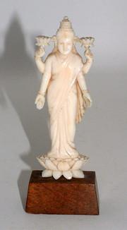 Ivory Lakshmi figurine