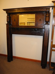 Large Victorian  Carved Oak Fire Surround