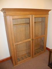 Large pine gun cabinet