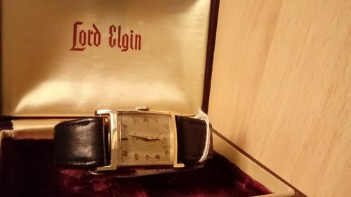 Lord Elgin Men's Art Deco Watch