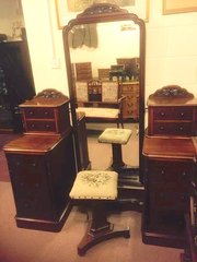 Lovely mahogany Victorian Dressing 'Station'
