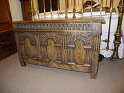 Lovely victorian coffer in carved oak