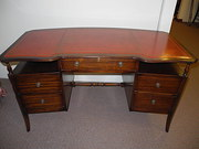 Mahogany Leather Top Desk/Dressing Table