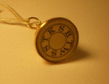 Masonic Rose Gold Fob 1920