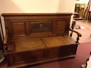 Oak Scottish Settle made in Aberdeen