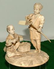 Okimono Ivory figurine