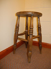 Old Oak Kitchen Stool