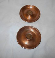 Pair Of Trench Art Dish's