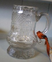 Rare Possibly Russian 1780 Faceted Glass Cup