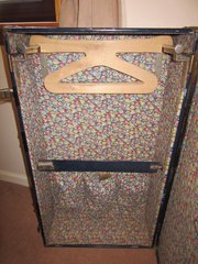 Rare Victorian Well Fitted shipping trunk