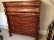 Scottish FLame Mahogany Ogee Chest of drawers