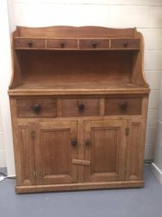 Scottish Victorian pitch pine kitchen dresser