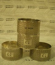 Sheffield Silver 1946 Napkin Rings