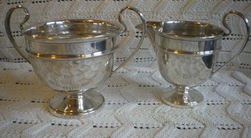 Silver Cream & Sugar 1932