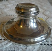 Silver inkwell Chester 1917
