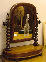 Turned Mahogany Cheval Mirror