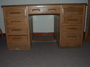 Twin pedestal desk