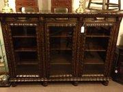 Unusual Gothic style bookcase