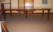 Very Long Mahogany Dining Table