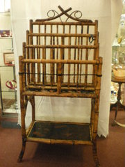 Victorian Bamboo Magazine Newspaper Rack