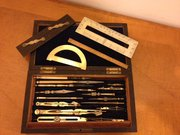 Victorian Cased steel & brass drawing instruments