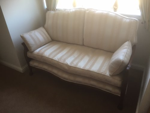 Victorian Double Cane Bergier Walnut Sofa