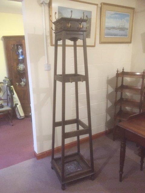 Victorian Oak hat stand