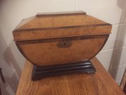 Victorian Walnut fruitwood Tea Caddy