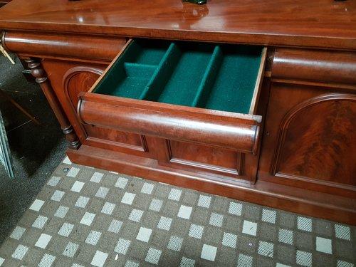 Victorian mahogany 3 door / drawer chiffioner side